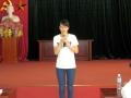 201409_入学説明会・キックオフ(2期生) 1期生(ホアさん)によるスピーチ