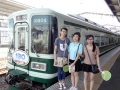 201507_日本招待研修旅行 電車に乗るのも初めてです