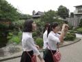 201607_日本招待研修旅行 日本庭園に心奪われた学生たち